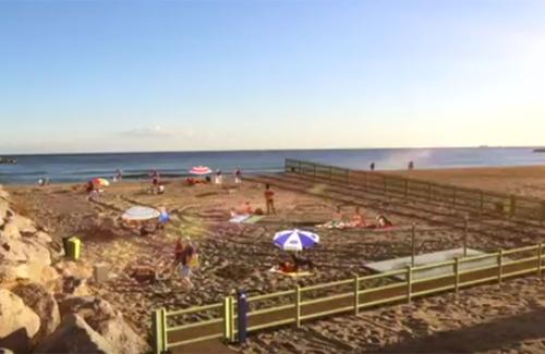 Una recreació del futur aspecte de la platja. Foto: Ajuntament