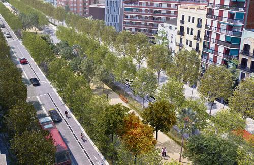 Imatge virtual de la futura Meridiana. Foto: Ajuntament