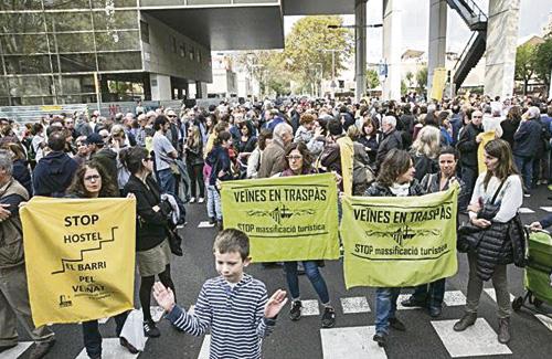 Una de les protestes per demanar l'aturada de les obres. Foto: Arxiu