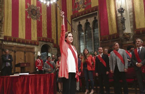 Colau, el dia de la presa de possessió com a alcaldessa. Foto: Ajuntament