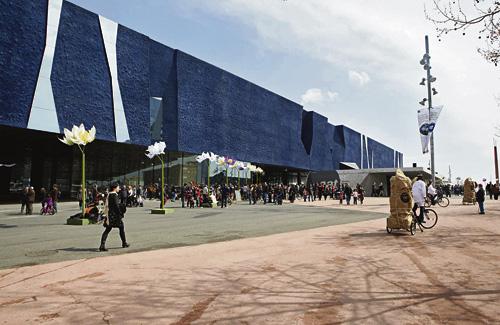L'edifici on actualment hi ha el Museu Blau és obra de l'arquitecte Jacques Herzog. Foto: Museu Blau