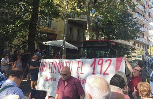 Un moment de la protesta de divendres passat. Foto:Twitter (@ClotFede)