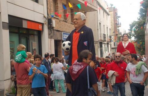El gegant de Josep Calderón va sortir diumenge al carrer. Foto: CPS