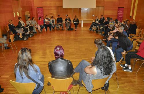 Els membres de la Taula de Diversitat Funcional. Foto:Ajuntament