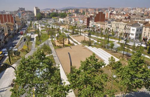 La Fira de Primavera es farà a la plaça Pompeu Fabra. Foto: Google Maps