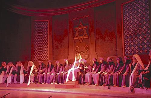 Reunió del Sanedrí de la representació. Foto: La Passió d'Esparreguera