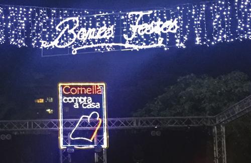 L'encesa de llums marca l'inici de les activitats de Nadal. Foto: Ajuntament
