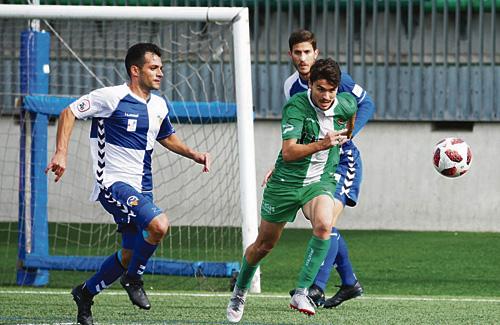 Un moment del partit contra el Sabadell. Foto:UEC