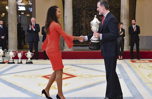 María Vicente rep el premi Princesa Leonor d'esports