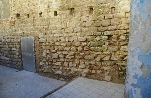 Les restes corresponen a un tram de morter de l'època romana. Foto:Ajuntament
