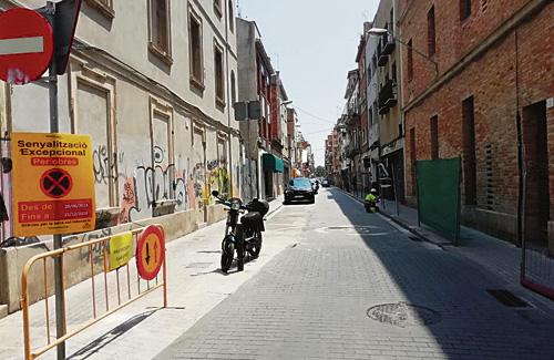 El carrer Príncep de Bergara, en obres. Foto: Ajuntament
