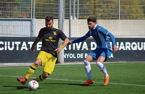 Un moment del partit dels potablava contra l'Espanyol B. Foto:AEP