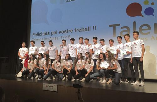 Els guanyadors de Talent a les Aules Gavà-Viladecans. Foto: Ajuntament