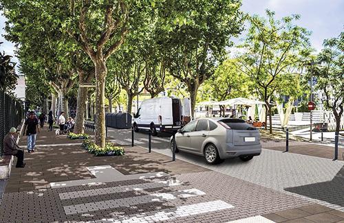 Imatge virtual de la Gran Via després de les obres. Foto: Ajuntament
