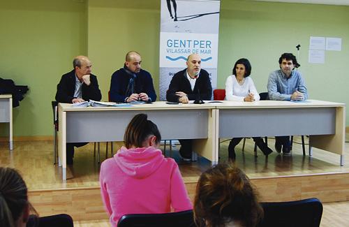 Roda de premsa de presentació del nou partit. Foto: Gent per Vilassar de Mar