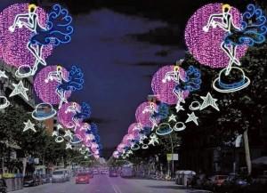 Imatge de la il·luminació del Paral·lel. Ajuntament