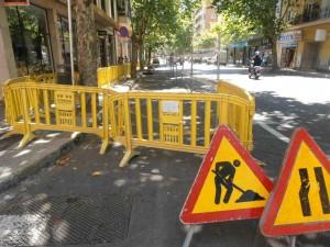 Comença la reforma de l'últim tram del carrer de Sants