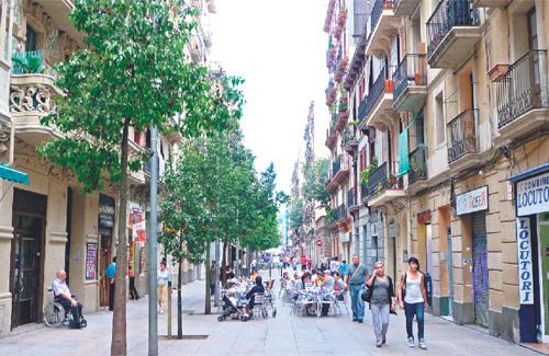 El carrer Blai, el punt més problemàtic del Poble-sec. Foto: Línia