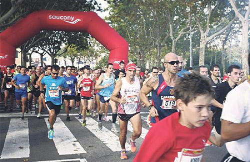 La cursa va començar a les portes de l'INEFC. Foto: Cursa Lluís Companys